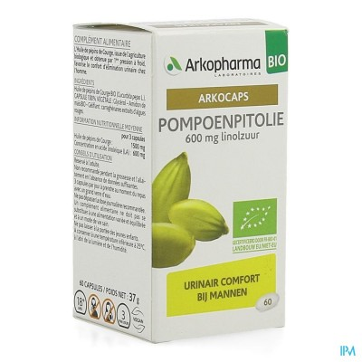 Arkocaps Pompoenpitolie Bio Caps 60