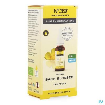 Bachbloesem Bio N°39 Noodgevallen Druppels 20ml