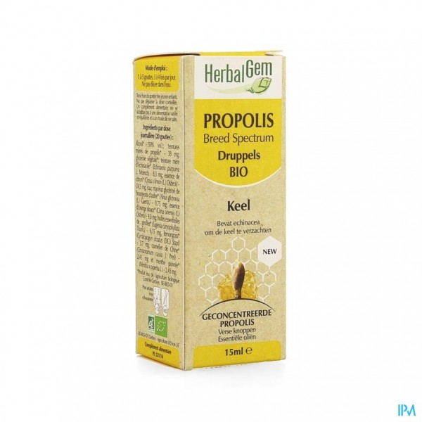 Herbalgem Propolis Breed Spectrum Bio Fl Gutt 15ml