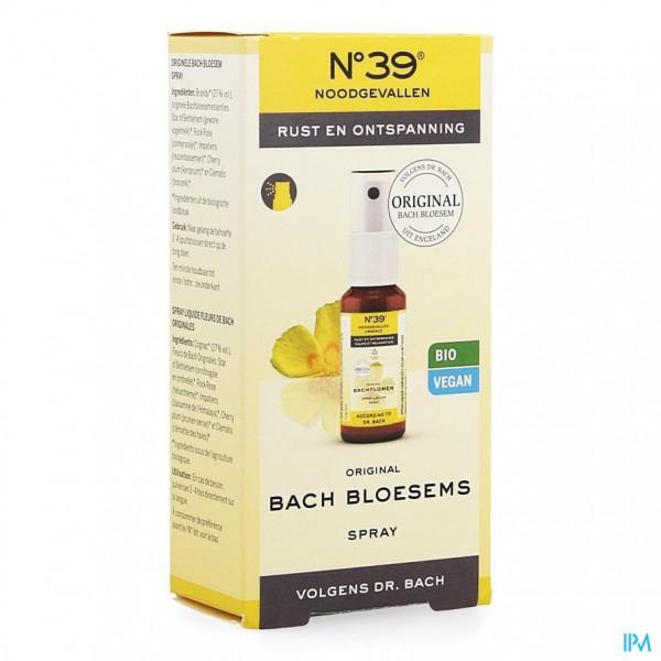 Bachbloesem Bio N°39 Noodgevallen Spray 20ml
